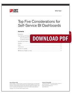 Top vijf overwegingen voor self-service BI