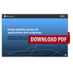 Infuse identity across all applications and endpoints
