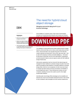 The need for hybrid cloud object storage